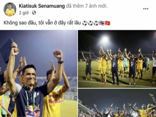 Bóng đá Việt Nam 25/9: HLV Kiatisuk cam kết tương lai tại HAGL